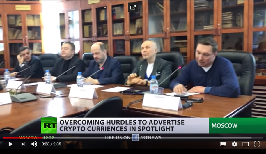 07.04.2018. RT. Overcoming Hurdles To Advertise Crypto Currencies In Spotlight